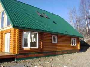 "8"" Superior Log home w/ skylights."