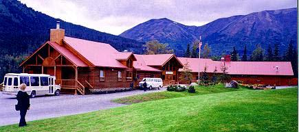 """The 11,000 sq. ft. Kenai Princess Lodge is our 8"""" Superior Logs & Superior Logs """"Authentic"""" Half Log Siding. The lodge has gourmet kitchen & restaurant, meeting rooms, bar, huge river rock fireplace in the cathedral ceiling lounge & offices in the 1/2 loft. No one can tell the difference from our full logs and log siding!! Can you??"""