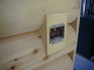 Cute pine light switch box holder at the door