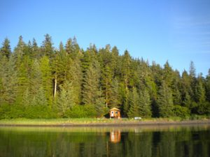 """Our cabins are all over rural Alaska. Chenega built this little 12'X16"""" pre-cut 6"""" log cabin in a very remote site"""