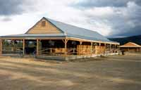 """The 2,400 square foot beautiful Alaska Railroad Depot at Denali Park welcomes visitors from all over the World as they depart within the Park. Our 8"""" Superior Logs were assembled by a frame contractor who had never built with logs before. They erected the logs following our instructions only!! We recently provided our 8"""" Superior Logs """"Authentic"""" half log siding for an attached his & hers restroom facility."""