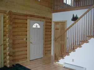Nice entry with T&G above logs