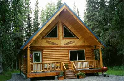 """This 24' X 28' Kenai Prince cabin is located on the Kenai River outside Soldotna.  This Kenai Lodge owner has several of our 24' X 28' Kenai Prince cabins for his guests.  The river provides some very serious fishing, while our 8"""" Superior Logs cabins provide the owner or guest an Alaskan setting wherever they are located!!"""