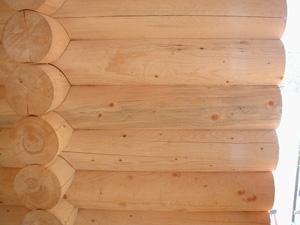 Interior log-wall saddle stiffener.