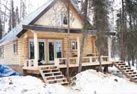 This custom 24' X 28' cabin is located on the back of Crooked Lake.  It was delivered crossing the ice in the Winter. The owners & friends built this cabin to their specs.