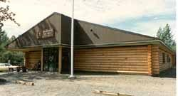 "The Talkeetna U.S Post Office in our pre-cut 10"" Superior Logs stacked 10' high and is 3,400 SQ. FT."