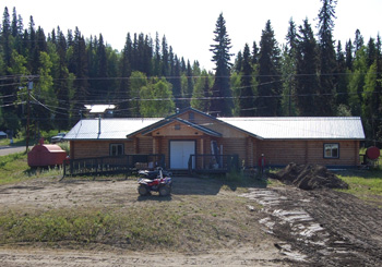 Front view of the Anvik Community Center built by the Village.