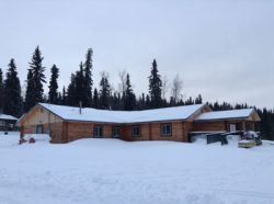 """4,384 sq. ft. Anvik Community Center in our 8"""" pre-cut logs; all designed  & supplied by Superior Products, Inc. and built by Anvik."""