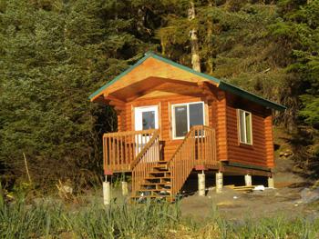 "A smaller Chenega Village 6"" log cabin built by Chenega"