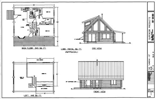 Alaskan Superior Log Cabin Design Plans
